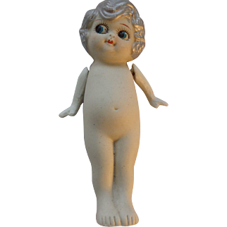 Vintage Silver Hair Kewpie, Made In Japan, Circa 1930's