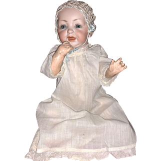 Antique Bisque Head Character Baby Doll