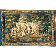 "Important French Abusson Allegorical Tapestry of Summer ""Four Seasons"" Signed"