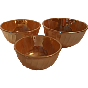 Peach Luster Nesting Mixing Bowls Set of Three
