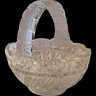 Basket Pressed Cut Crystal Attributed to Hofbauer (German)