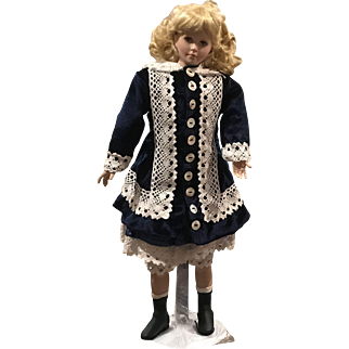 """19"""" Porcelain Doll """"Jeanette"""" by Artists Paul Crees and Peter Coe"""