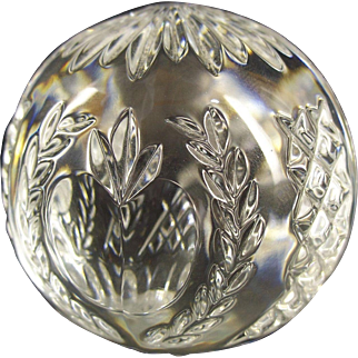 Waterford Crystal Times Square 2001 Ball Paperweight - Hope for Abundance Apple
