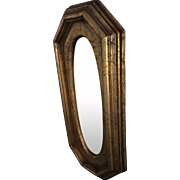 Antiques gold guilded,crackled, mirror