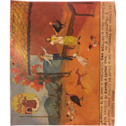 Authentic, Mexican Retablo ( 50+ years old) depicting the prayers of gratitude