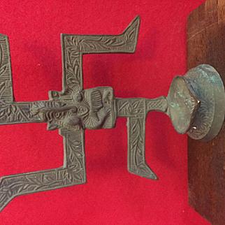 Hindu Ganesha incense, oil, candle holder/burner