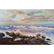 "The Black Sea. Ara Hakobyan 23.6"" X 35.43"" ( 60 x 90 cm) Oil painting on canvas"