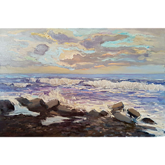 "The Black Sea. Ara Hakobyan 23.6"" X 35.43"" ( 60 x 90 cm) Oil painting on canvas"