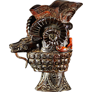 Chinese Qing Dynasty - Ox Horn Ceremonial Cup