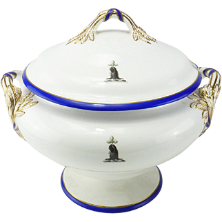 English Minton Crested Dinner Service Painted with Crest for Phipps Family