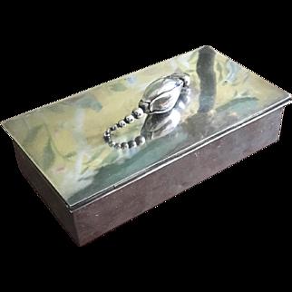 Danish Sterling Silver Cigarette Box by Gunnar Jensen