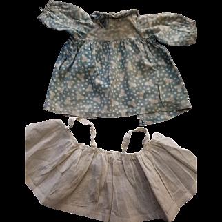 Rare 2 piece 1915 Gruelle family-made Raggedy Ann dress  & apron