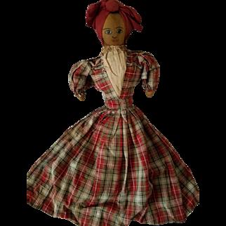 "16"" antique Topsy Turvy black & white dolls early 1900s,"