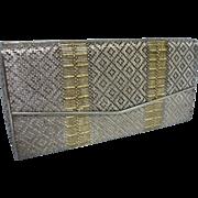 Stunning Vintage Chaumet Paris 950 Sterling & 18K Gold Evening Purse 1950's