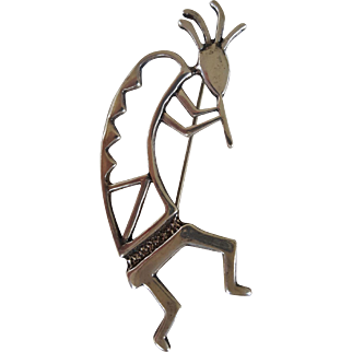 Vintage 1940s Sterling Kachina Man brooch