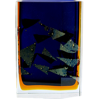 Pavel Hlava, vase Exbor, sommerso, Czech/Bohemia art glass