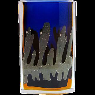 Pavel Hlava sommerso vase Exbor, h. 22,5 cm