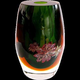 Pavel Hlava, somemrso vase,  very heavy glass, unique, 1964