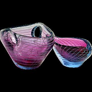 Jirina Zertova, two glass bowls, Czechoslovakia 1960
