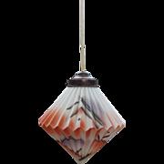 Rare Vintage Art Deco 1920s Spritz Dekor Lamp Ceiling Fixture German Bauhaus