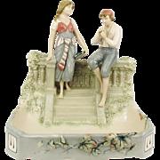 TOP Antique 1910 Art Nouveau ROYAL DUX Eichler Porcelain Figural Jardiniere