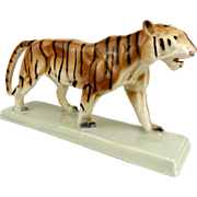 Vintage 1930s Art Deco Ditmar Urbach Ceramic figurine of Tiger, Wild Panther