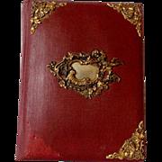 Antique 1910 Art Nouveau Photoalbum with Cherubs & Children Vintage Book