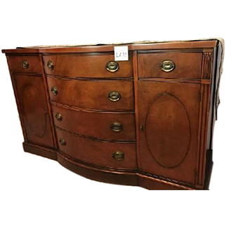 Drexel New Hampton Court Mahogany Georgian Side Cabinet / Drexel Buffet Console Sideboard Chest Server