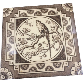 Aesthetic Movement Victorian Tile by Smith & Co of Coalville