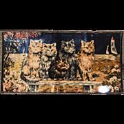 Cats Italian Tapestry Vintage