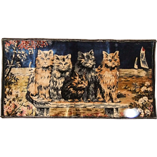 Cats Italian Tapestry Vintage
