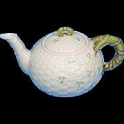 Belleek Classic Shamrock Tea Pot 6th Mark 1965-1980