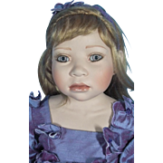 Porcelain & Cloth Doll Named Lavender by Christine Orange