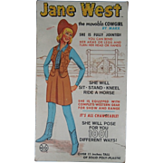 Jane West Vintage Marx Action Figure