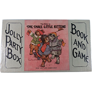Three Kittens Book and The Jolly Party Game Boxed Set  1921