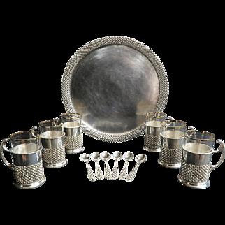 Magnificent Persian Silver Tea Set by Vartan