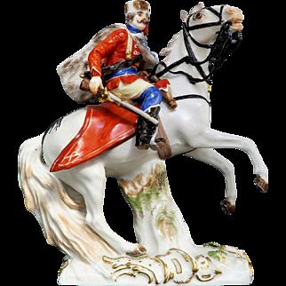 Rare Meissen Figure of Tsar Horse Riding