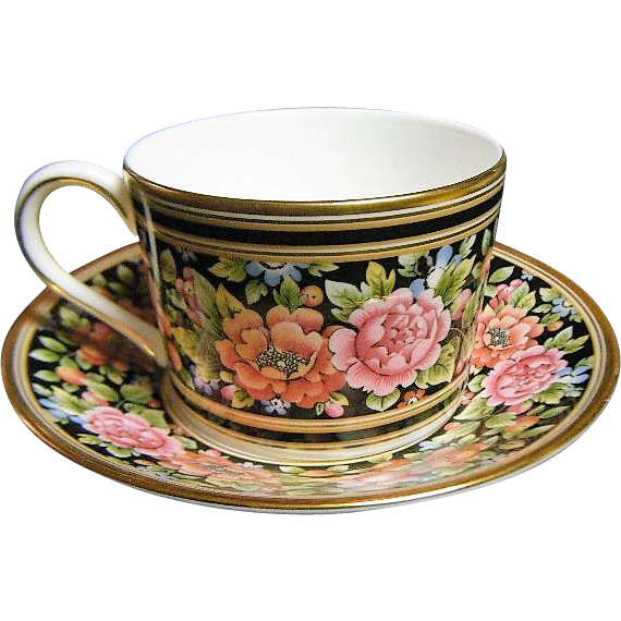 Vintage Wedgwood Clio Tea Cup and Saucer Floral  Accent Pattern