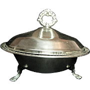 Vintage F B Rogers Silverplated Covered Service Dish 1158