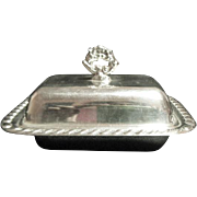 Vintage Canterbury Silverplate Cover Dish