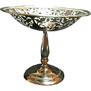 Vintage Sheffield Silver Co. EPC Stand Dish Reticulated Compote 6961