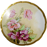 Vintage Ginori Italy Firenze Floral Porcelain Plate #120