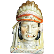 Vintage Native American-Indian Head Humidor Tobacco Jar