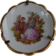 Vintage Limoges France Miniature Porcelain Plate for Dollhouse