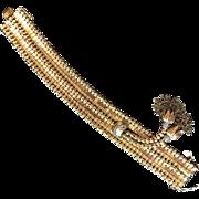 ANTIQUE 18k gold & diamond handmade hassle bracelet. 72.8 grams.