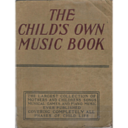 A Child's Own Music Book by Albert E.Wier, 1918.