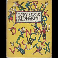 Tony Sarg's Alphabet, Revised edition 1945, Fine condition.