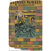 Gulliver's Travels with rare Art Deco illustrations by Sherman Cooke, 1930