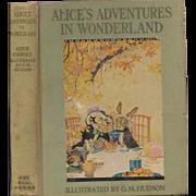 Alice's Adventures in Wonderland illustrated by Gwynedd Hudson, first edition 1935