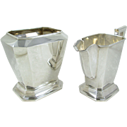 Vintage Hirata & Co. Japan .950 Sterling Silver Creamer and Sugar, No Monograms, 245 grams